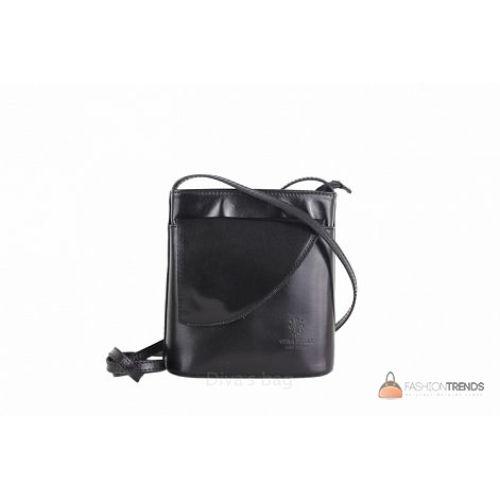 Итальянская кожаная сумка DIVAS Dotty TR964 черная