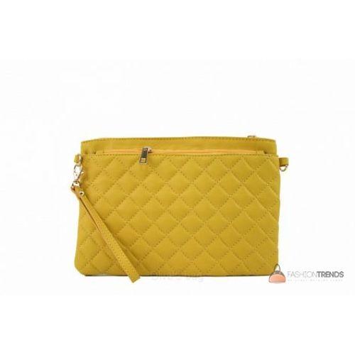 Итальянский кожаный клатч DIVAS Kim P2309 желтый