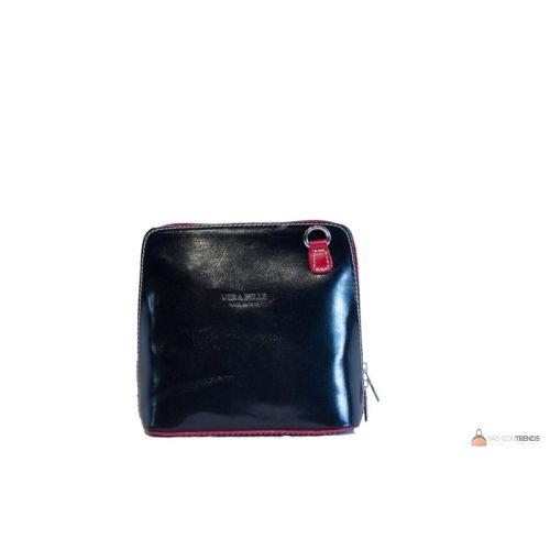 Итальянская кожаная сумка DIVAS RAMONA TR923 черная с красным