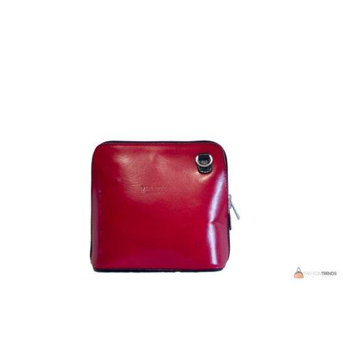 Итальянская кожаная сумка DIVAS RAMONA TR923 красная с черным