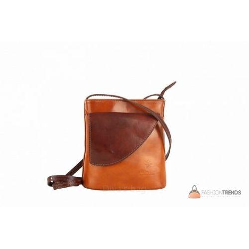 Итальянская кожаная сумка DIVAS Dotty TR964 коньячная