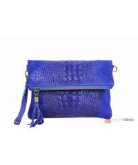 Итальянский замшевый клатч DIVAS Tecla TR973 синий