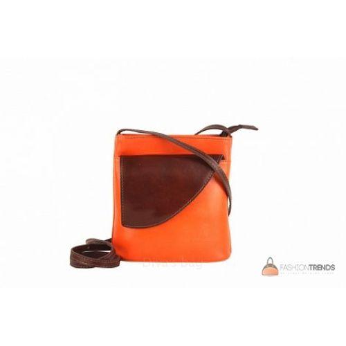 Итальянская кожаная сумка DIVAS Dotty TR964 оранжевая