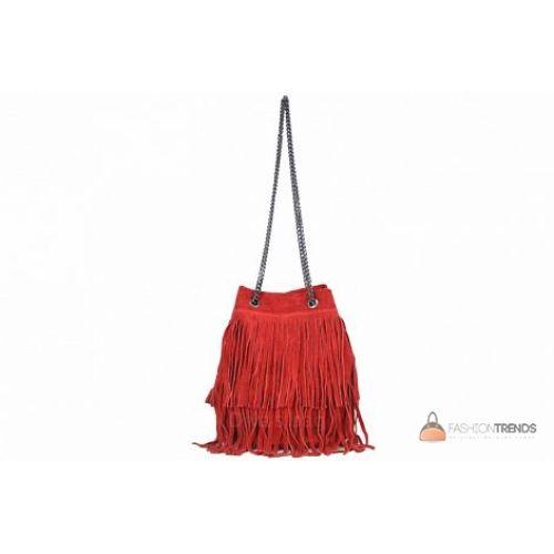 Итальянская замшевая сумка DIVAS Naima TR977 красная