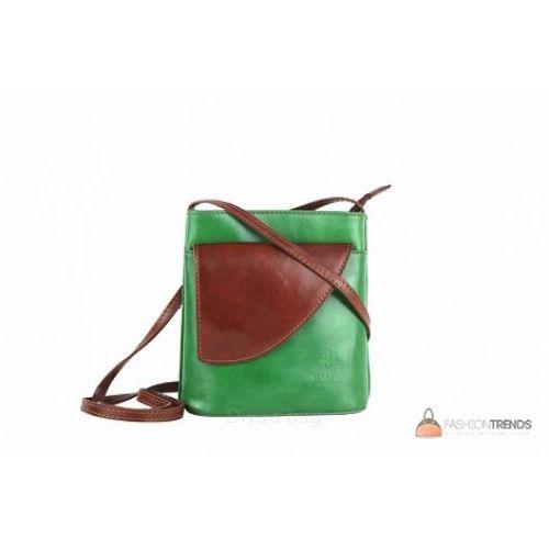 Итальянская кожаная сумка DIVAS Dotty TR964 зеленая