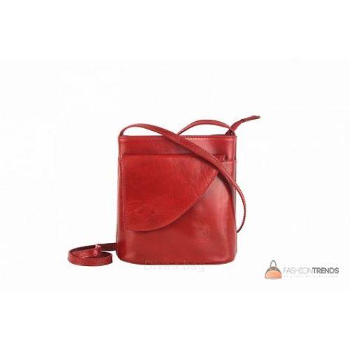 Итальянская кожаная сумка DIVAS Dotty TR964 красная