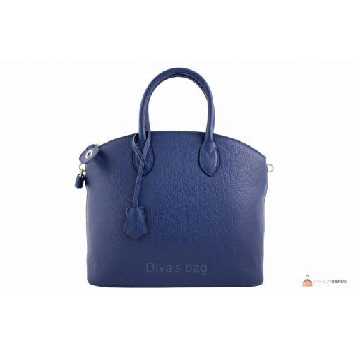 Итальянская кожаная сумка DIVAS GLENDA M8865 темно-синяя