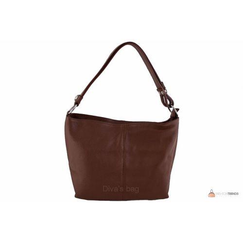 Итальянская кожаная сумка DIVAS LORELLA BS15207 коричневая