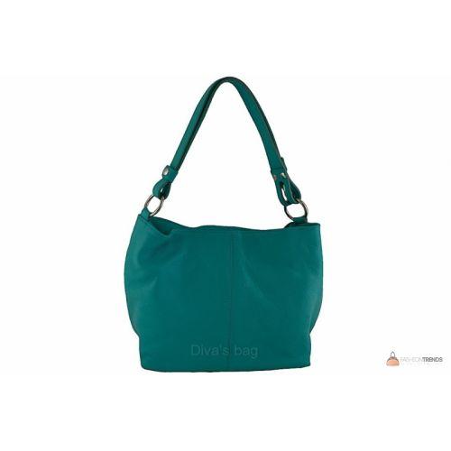Итальянская кожаная сумка DIVAS LORELLA BS15207 бирюзовая