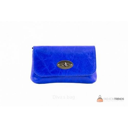 Итальянская кожаная сумка DIVAS Kitty P2310 синяя