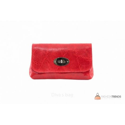 Итальянская кожаная сумка DIVAS Kitty P2310 красная
