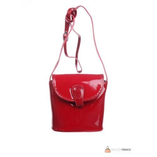 Итальянская кожаная сумка DIVAS ROXI TR933 красная
