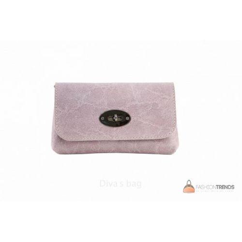 Итальянская кожаная сумка DIVAS Kitty P2310 розовая