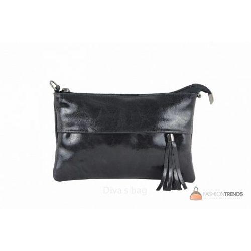 32edc93e9655 Итальянский кожаный клатч DIVAS Lelia TR982 черный купить в Киеве