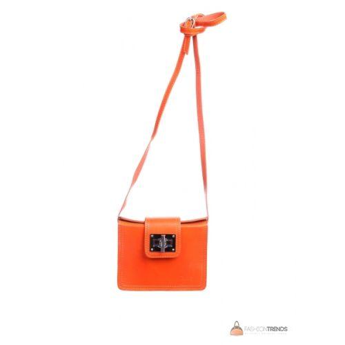 Итальянская кожаная сумка DIVAS EMILY TR922 оранжевая