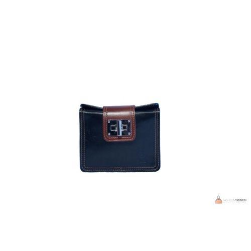 Итальянская кожаная сумка DIVAS EMILY TR922 черная с коричневым