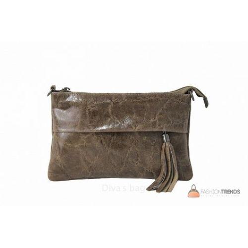 Итальянский кожаный клатч DIVAS Lelia TR982 тауп