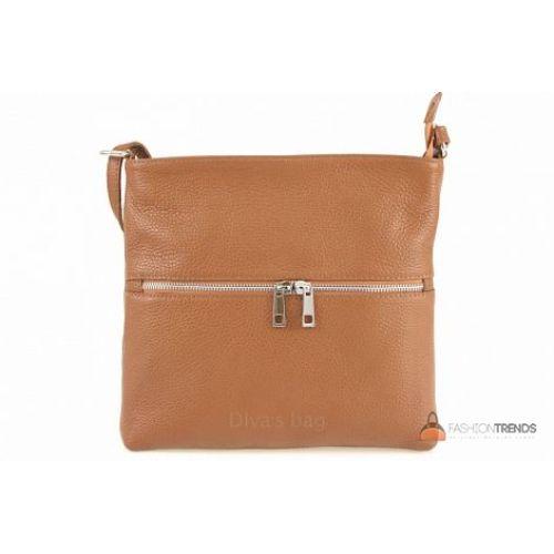 Итальянская кожаная сумка DIVAS Josslyn TR997 коньячная