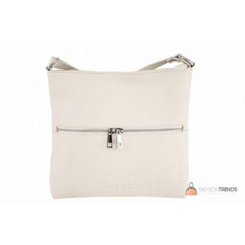 Итальянская кожаная сумка DIVAS Josslyn TR997 бежевая