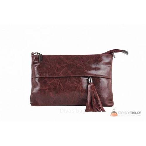 Итальянский кожаный клатч DIVAS Lelia TR982 винный