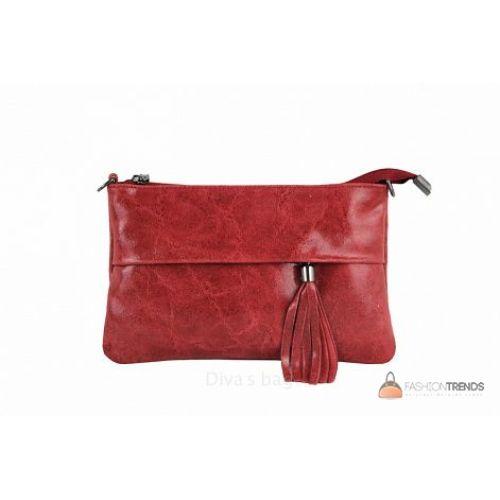 Итальянский кожаный клатч DIVAS Lelia TR982 красный