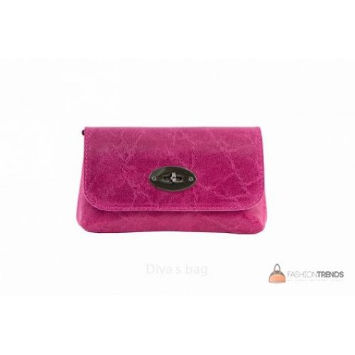 Итальянская кожаная сумка DIVAS Kitty P2310 фуксия