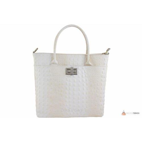 Итальянская кожаная сумка DIVAS CAROLINA S6815 бежевая