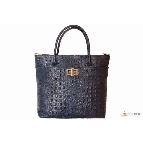 Итальянская кожаная сумка DIVAS CAROLINA S6815 темно-синяя