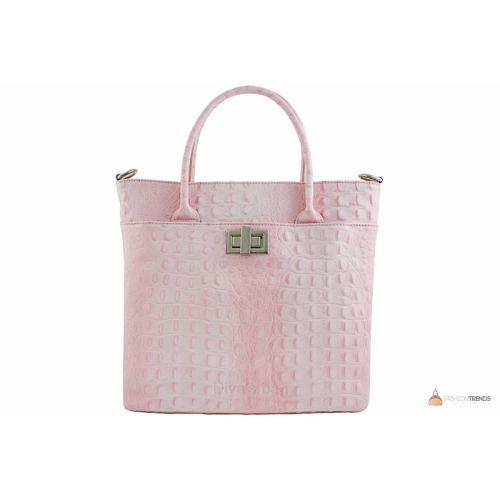 Итальянская кожаная сумка DIVAS CAROLINA S6815 розовая