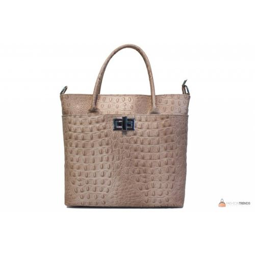 Итальянская кожаная сумка DIVAS CAROLINA S6815 тауп