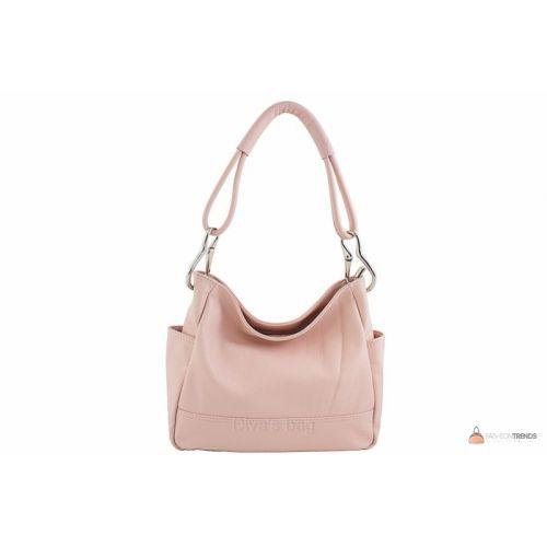 Итальянская кожаная сумка DIVAS SHEILA S6914 розовая