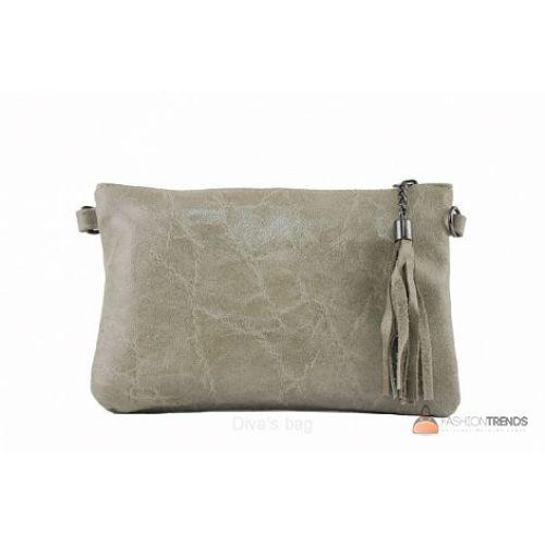 Итальянский кожаный клатч DIVAS Kate TR959 тауп
