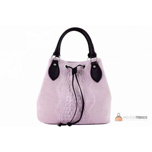 Итальянская замшевая сумка DIVAS Flaminia S7005 розовая