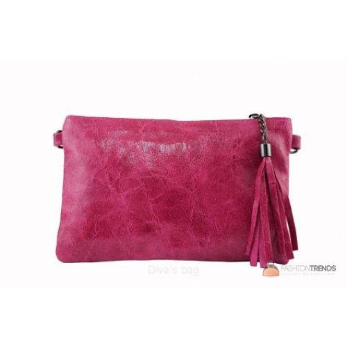 Итальянский кожаный клатч DIVAS Kate TR959 фуксия