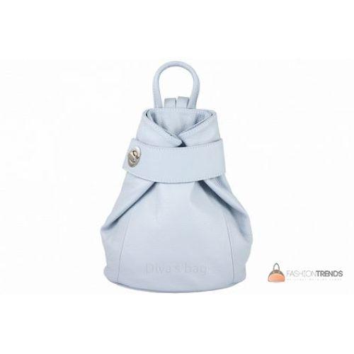 Итальянский кожаный рюкзак DIVAS Latisha S7073 голубой