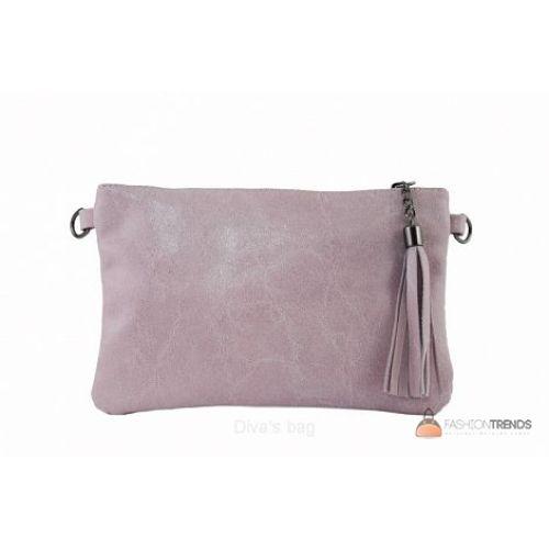 Итальянский кожаный клатч DIVAS Kate TR959 розовый