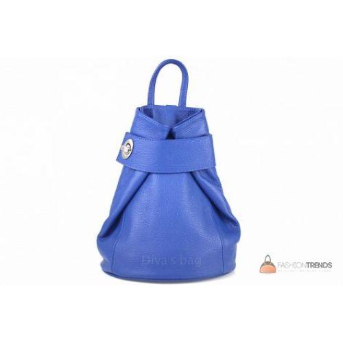 Итальянский кожаный рюкзак DIVAS Latisha S7073 синий