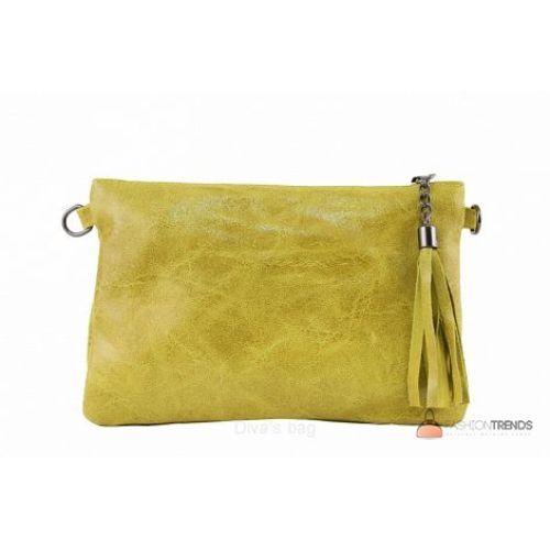 Итальянский кожаный клатч DIVAS Kate TR959 желтый