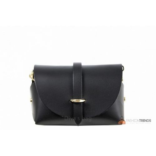 Итальянская кожаная сумка DIVAS Elvia TR992 черная
