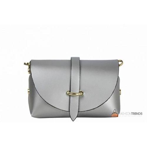 Итальянская кожаная сумка DIVAS Elvia TR992 серебристая