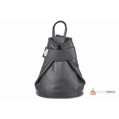 Итальянский кожаный рюкзак DIVAS Latisha S7073 черный