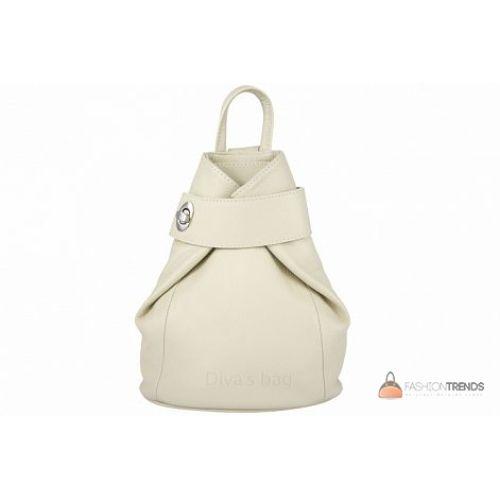 Итальянский кожаный рюкзак DIVAS Latisha S7073 бежевый