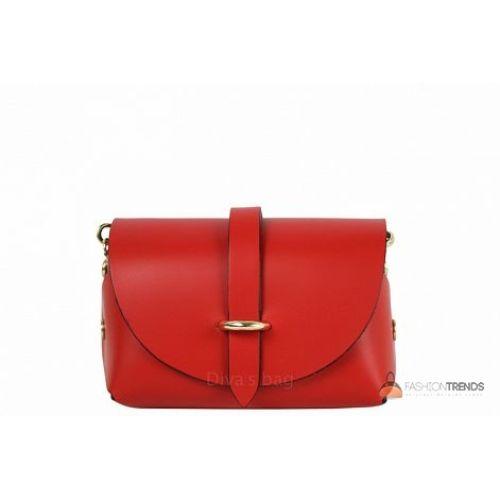Итальянская кожаная сумка DIVAS Elvia TR992 красная
