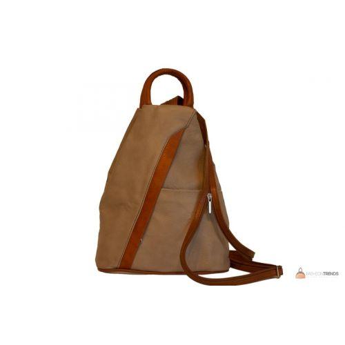 Итальянский кожаный рюкзак DIVAS STEFANIA S6925 тауп с коньячным