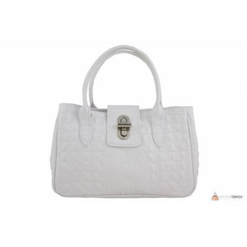 Итальянская кожаная сумка DIVAS NARCISA М8904 белая