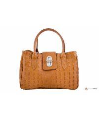 Итальянская кожаная сумка DIVAS NARCISA М8904 коньячная