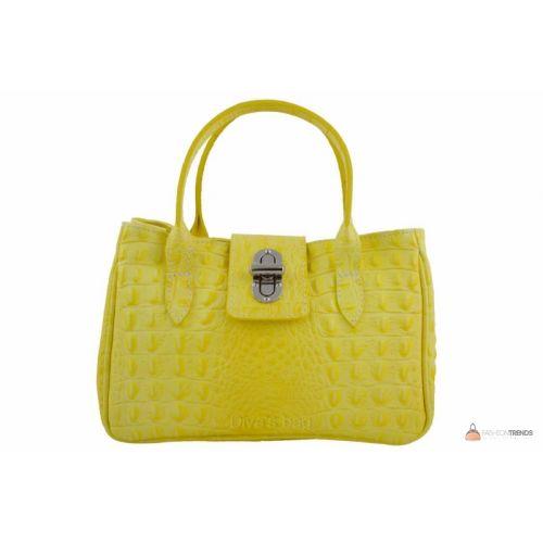 Итальянская кожаная сумка DIVAS NARCISA М8904 желтая