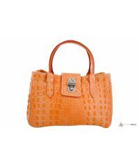 Итальянская кожаная сумка DIVAS NARCISA М8904 оранжевая