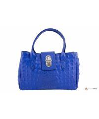 Итальянская кожаная сумка DIVAS NARCISA М8904 синяя