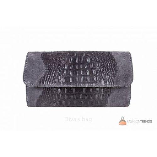 Итальянский кожаный клатч DIVAS Penny P2302 серый